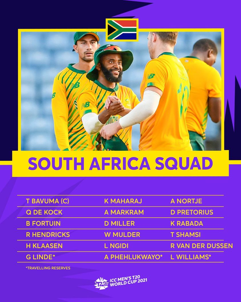 South Africa – ICC Men's T20 World Cup 2021