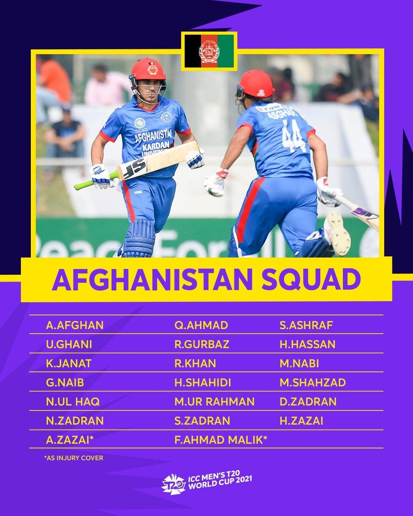 Afghanistan – ICC Men's T20 World Cup 2021