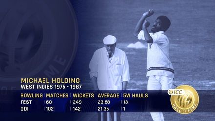 ICC Hall of Fame: Michael Holding | 'His run-up is just absolute poetry'