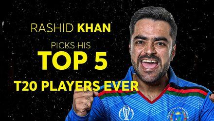Rashid Khan's top five T20 players