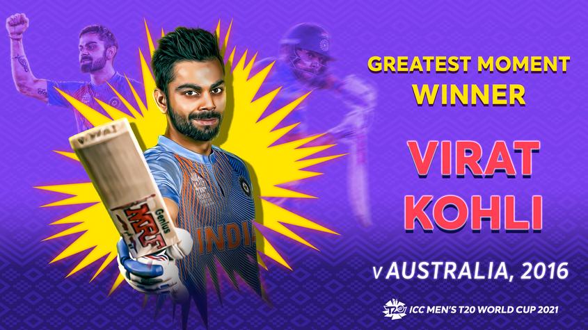 Virat Kohli's knock against Australia won the postpe Greatest Moments series