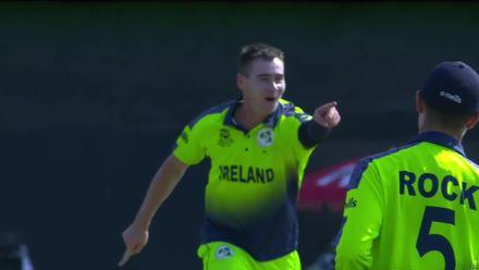 IREvNED: Bas de Leede clean bowled by full toss