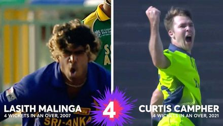 The four in four club: Campher and Malinga