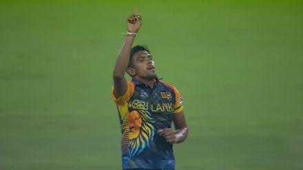 SLvNAM: Theekshana gets his third wicket