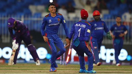 Mujeeb claims his fifth wicket