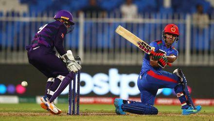 Zadran falls on last ball of innings
