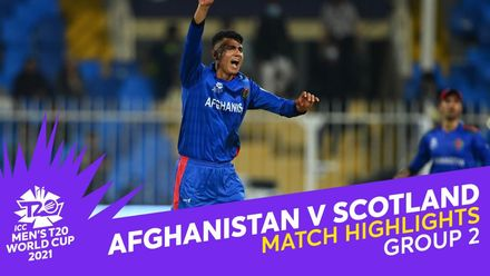Match Highlights: Afghanistan v Scotland