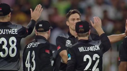 Trent Boult with a vital wicket for New Zealand