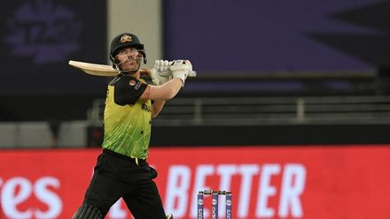 Warner's excellent innings of 65 comes to end
